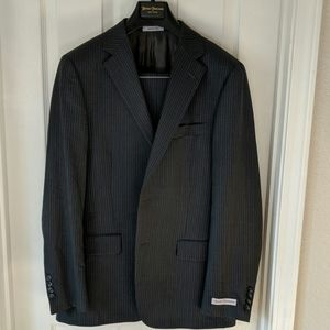 Hickey Freeman Medium Grey Milburn Pinstripe Suit